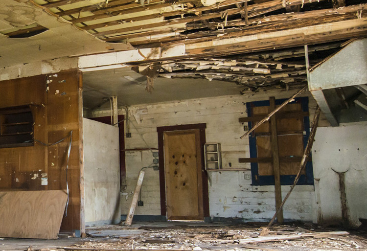 A broken down house
