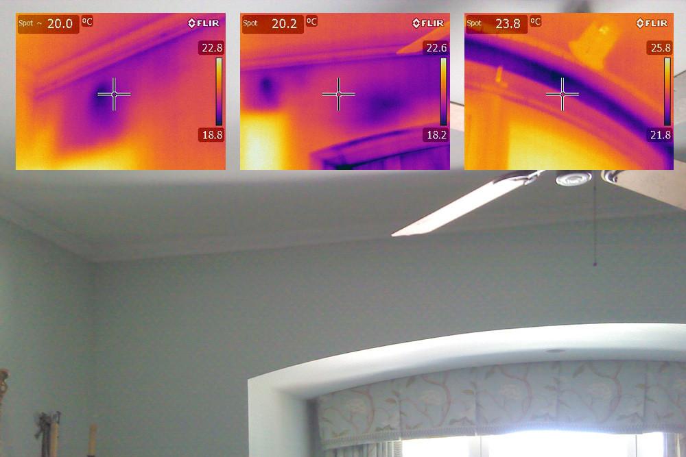 ir imaging of a window arch