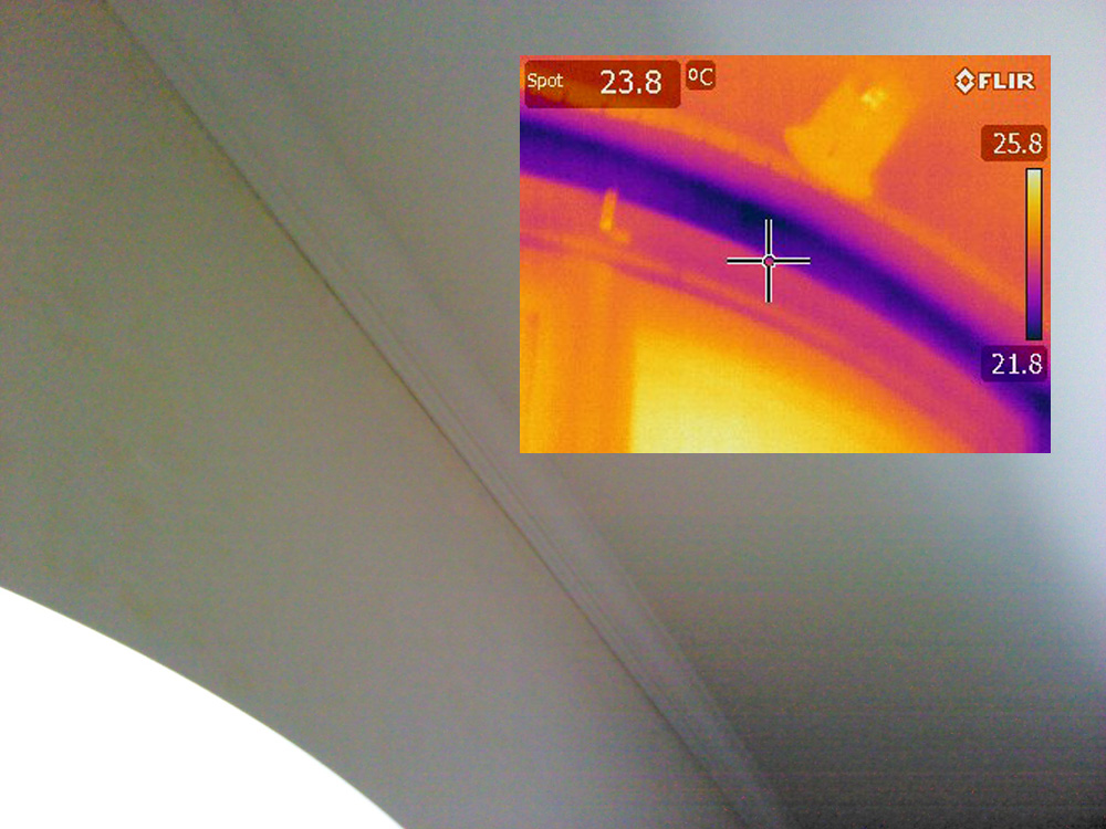 infrared imaging of an archway