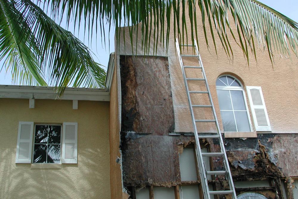 damaged wood panels